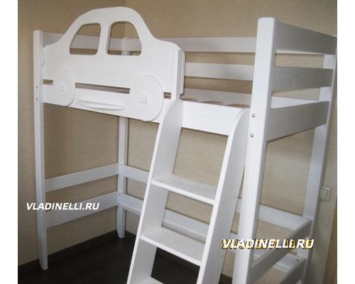 Кровать-чердак для ребенка из массива сосны