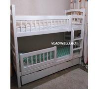 """Кровать двухъярусная """"Марго"""" с выкатными ящиками"""