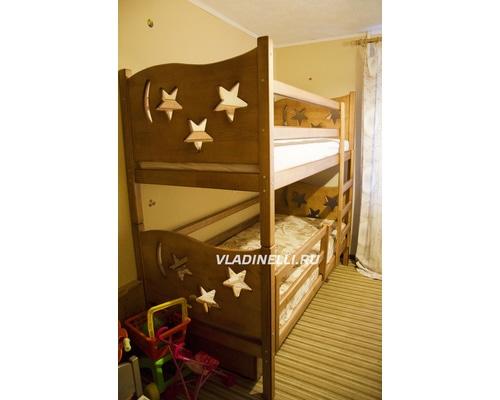 """Двухъярусная кровать из натурального дерева """"Дарина"""""""
