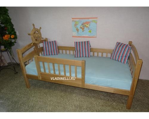 """Односпальная кровать из натурального дерева """"Морячок"""""""