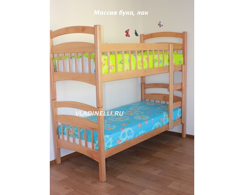 """Двухъярусная кровать из натурального дерева """"Маргоша"""""""