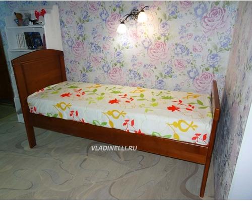 """Кровать односпальная из натурального дерева """"Светлана"""""""